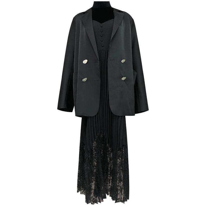 【吴大大轻奢】秋季新款时尚气质西装连衣裙套装 NAML785