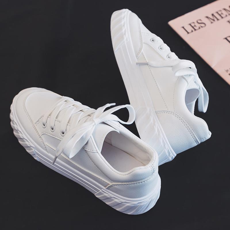 2019夏季新款夏款爆款小白鞋女韩版学生百搭帆布潮鞋白鞋休闲板鞋