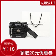 Mlouder Kasen bag women's bag new 2019 fashion small MK crocodile waist bag with One Shoulder Messenger Bag