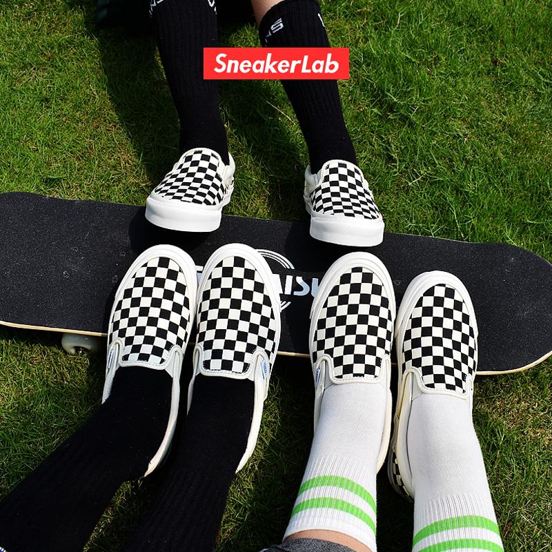 范斯Vans Slip On Vault高端棋盘格滑板男女帆布鞋VN000UDFF8L