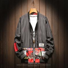 春季双面穿迷彩夹克男大码宽松韩版潮流学生两面穿休闲百搭外套