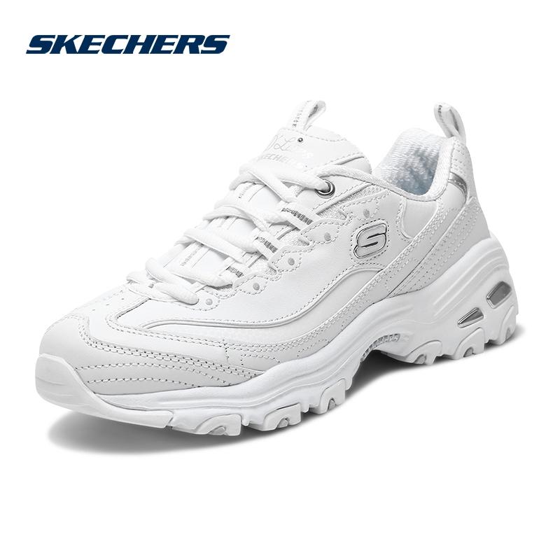 Skechers/斯凯奇男女新款D'lites时尚熊猫鞋 厚底增高休闲鞋11931