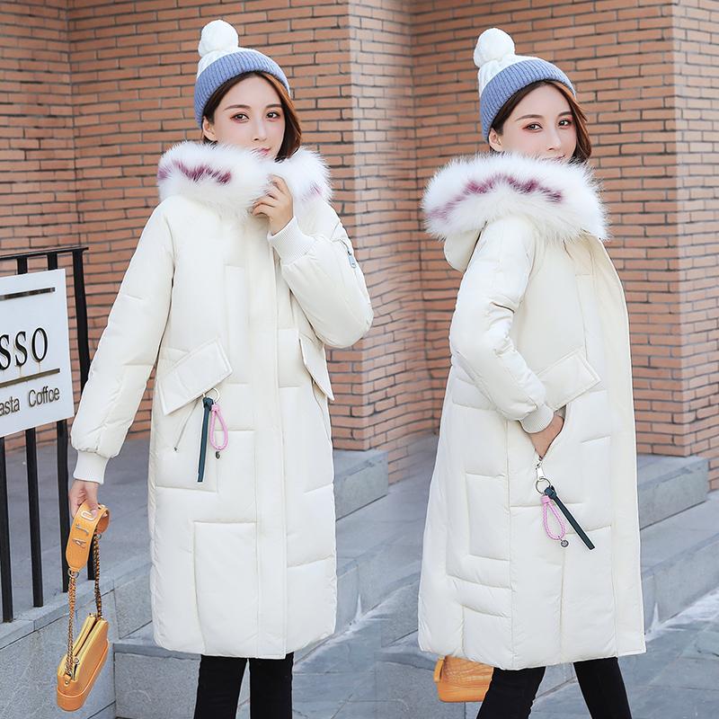 2020 cotton padded womens medium and long down cotton padded jacket off season