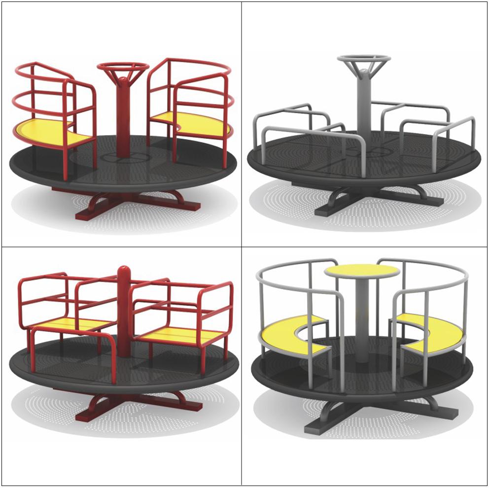 幼儿园室外大型儿童转椅户外玩具圆形转盘手动旋转椅小区游乐设施