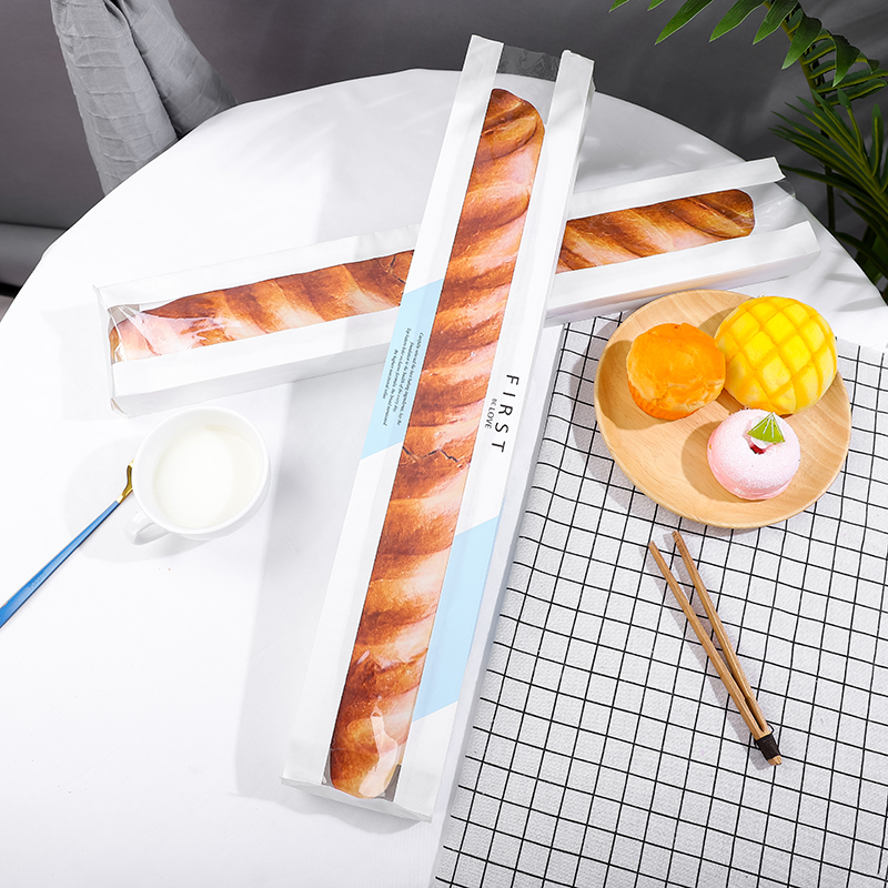 Food baking stick Long packaging bag window opening European French bread bag food grade film packaging bag
