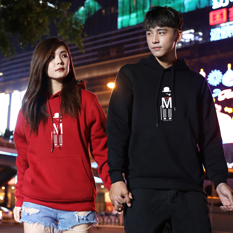 Korean long sleeve coat graffiti sweater mens Pullover Hoodie mens fashion brand couple top class clothing trend Sweatshirt