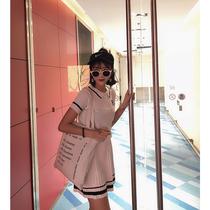 Classics韩版针织连衣裙a字百褶裙显瘦套装女夏2018新款裙子学生