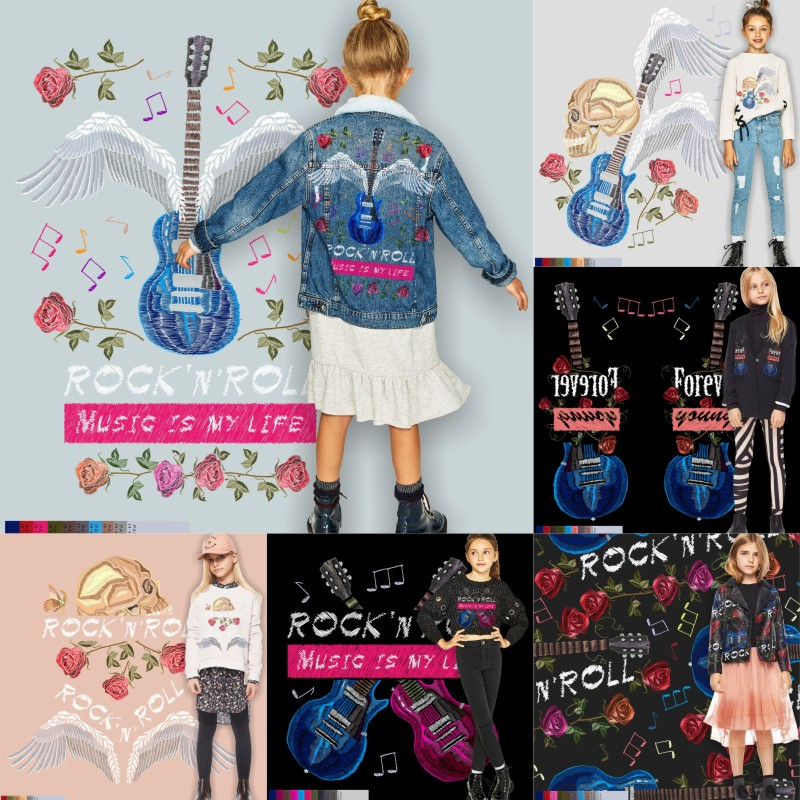 Fashion trend of girls clothing pattern in autumn and winter of 18 years