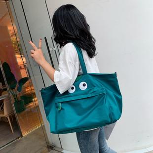 旅行袋女短途大容量外出可爱便携帆布健身包出行旅游包手提行李包