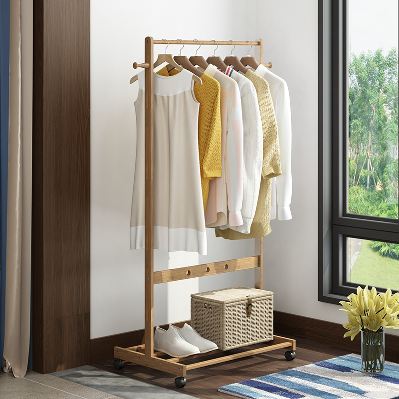 Росток склад спальня мобильный вешалка бамбук этаж легко турник весить одежду полка гостиная многофункциональный одежда полка