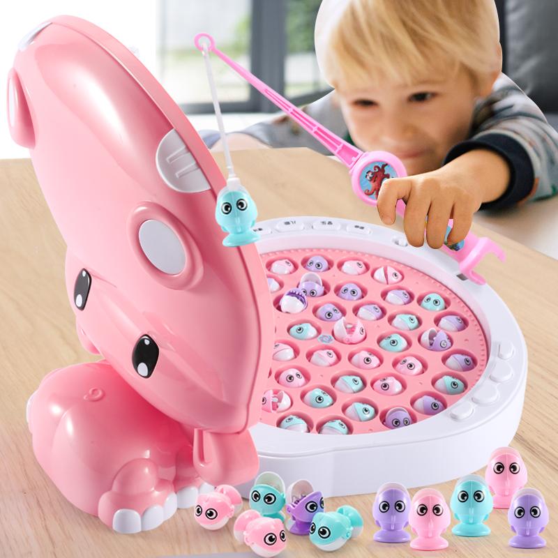 钓鱼磁性开发智力两三周3-4-6玩具