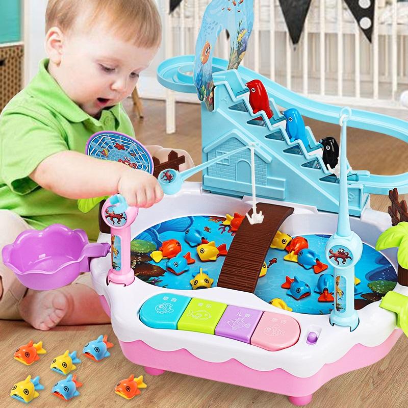 儿童钓鱼玩具亲子开发智力一两三周宝宝1-2-34岁半男女孩生日礼物