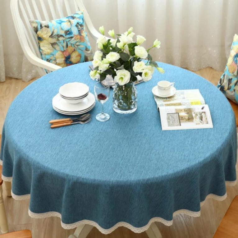 野餐深灰色条纹桌布布艺咖啡厅阳台小桌垫圆桌花纹椅子套半圆格纹