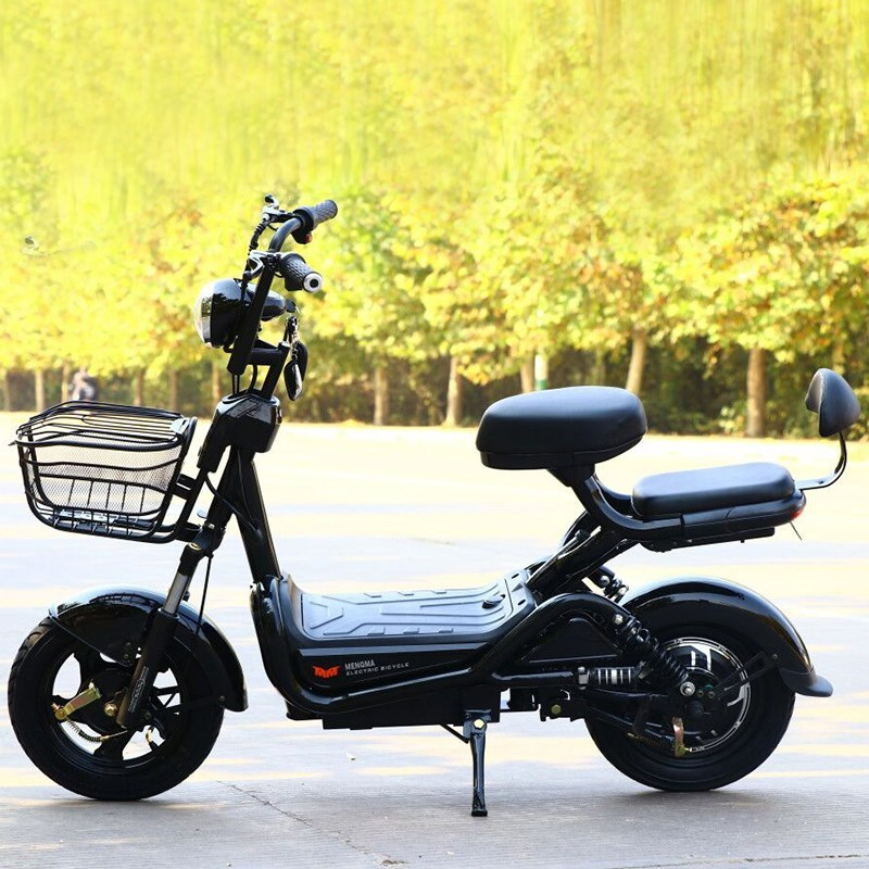 Lithium anti-theft electric bicycle adult two wheel alternative driving mini electric scooter small battery car