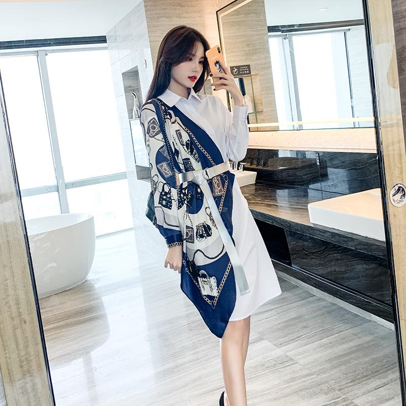 时尚连衣裙时髦收腰显瘦气质秋装2019年新款女衬衫裙子中长款长袖11月19日最新优惠