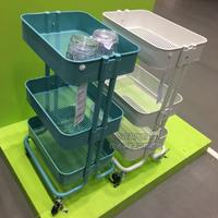 Меньшие корзины для корзины Ikea Lasker новый Кованое железо многоцелевой универсальный вагон поколение покупка