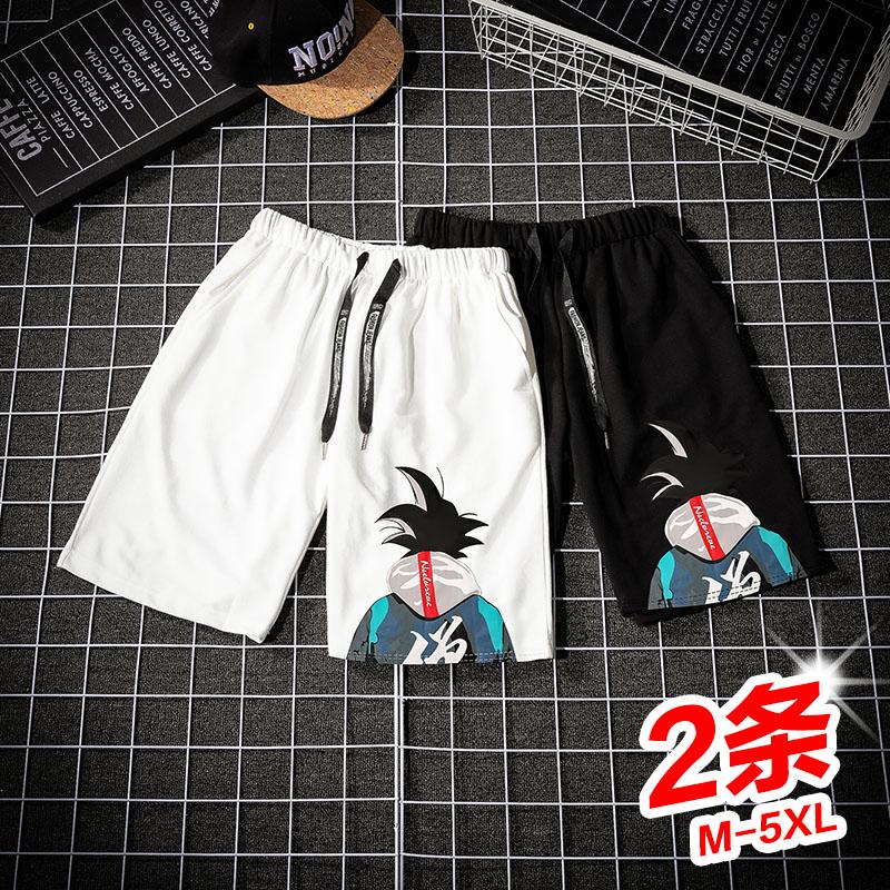 短裤男2020年夏季潮流宽松五分运动沙滩裤七分中裤外穿薄款休闲裤