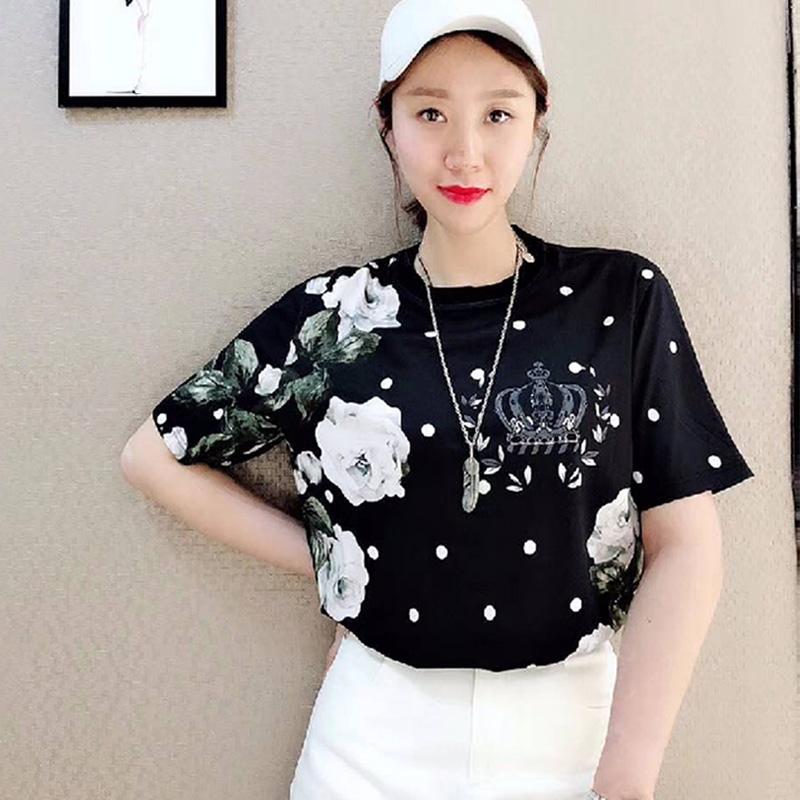 国内正品代购2018夏装新款美欧哥弟菲女装时尚宽松半袖短袖T恤衫