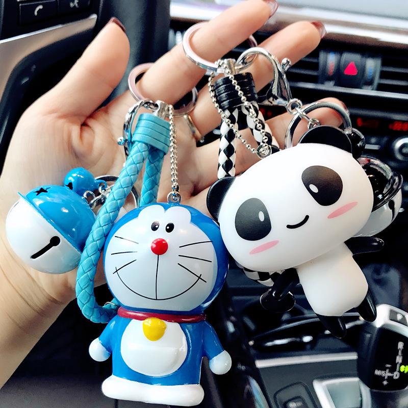 韩国卡通简约可爱公仔钥匙扣女创意汽车情侣钥匙链圈包包挂件礼品