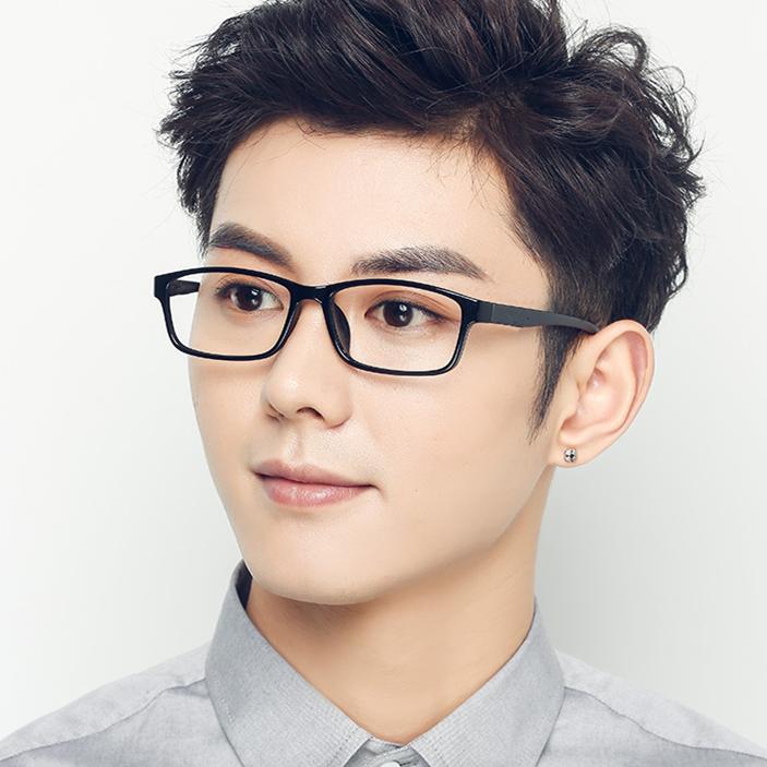 超轻全框成品近视眼镜 男女通用TR90眼镜架配送近视镜片100-600度