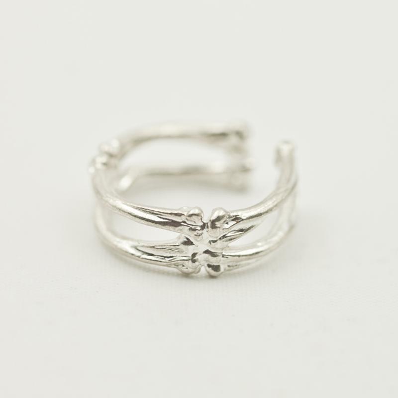 arkipelagus/偶屿骨头戒指925银骨廓戒指戒子创意指环图片
