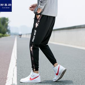 夏季九分裤子薄款男韩版潮流休闲裤青少年束脚裤运动裤百搭男长裤