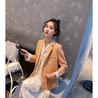 XIAOGULI一粒扣小西装外套女韩版chic英伦风休闲气质新款上衣女装