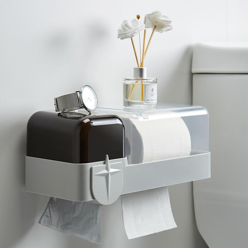 免打孔卫生间纸巾盒
