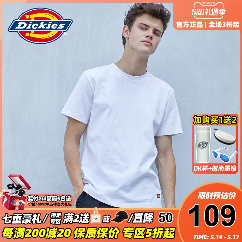 Dickies短袖t恤男潮牌夏季新品全棉打底衫纯色情侣半袖女7093 b