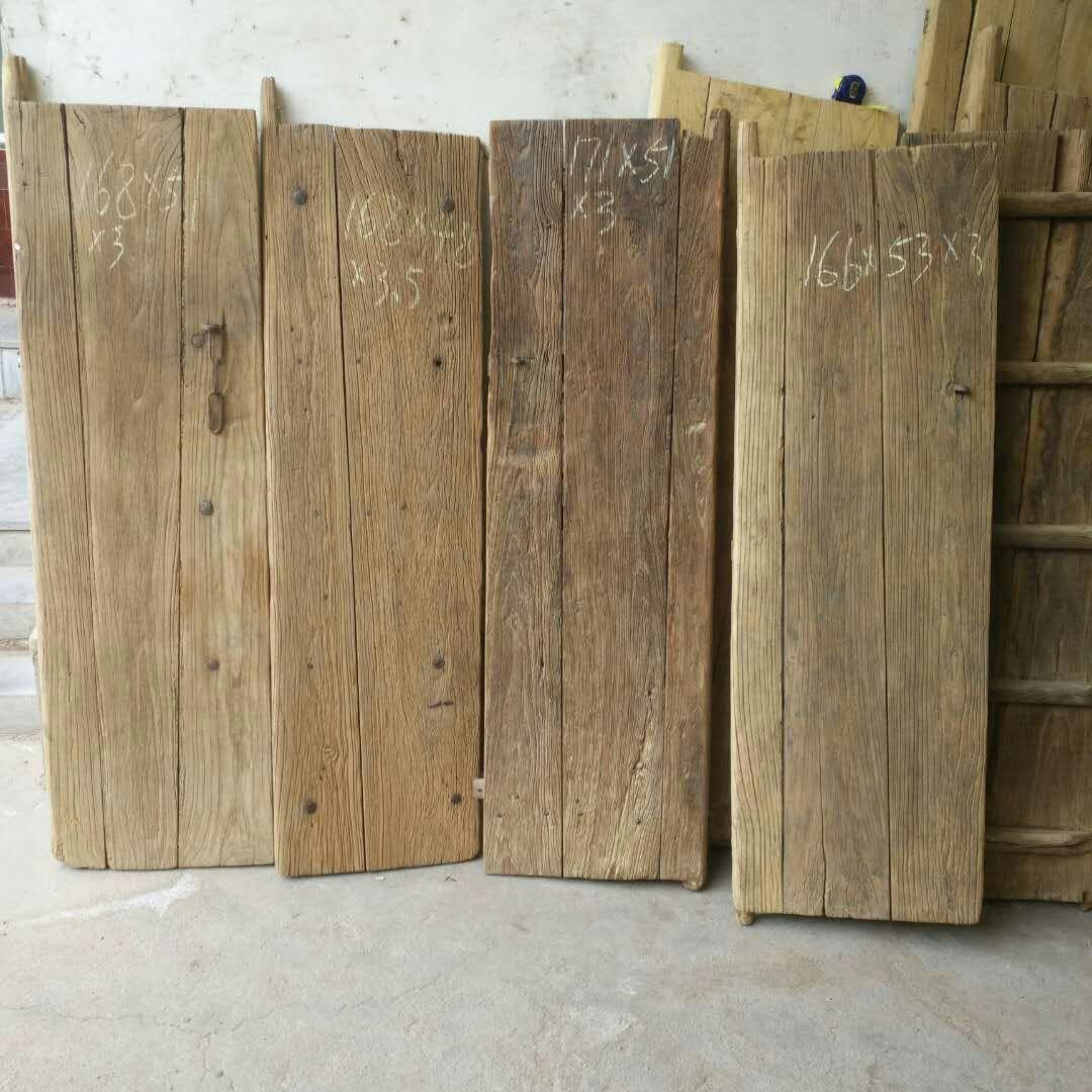 特价老榆木门板旧门板茶桌茶台茶几楼梯踏板桌面榆木风化木门板材