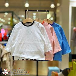 打折款moimoln小云朵雨伞韩国童装代购春儿童纯棉休闲T恤TS07
