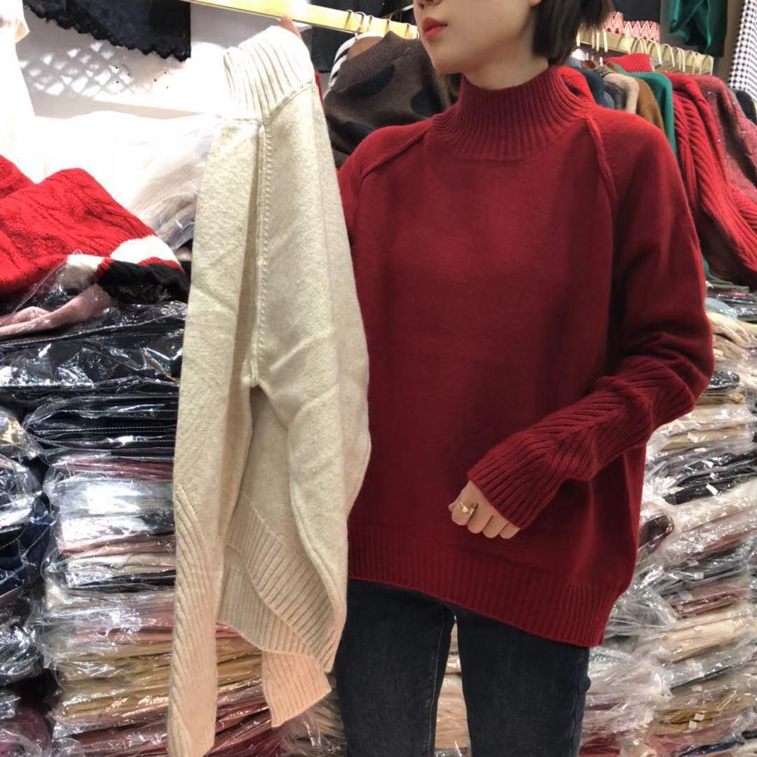【初冬款大上新】2019初冬款精品中高领纯色毛衣 1F0179-WQL221