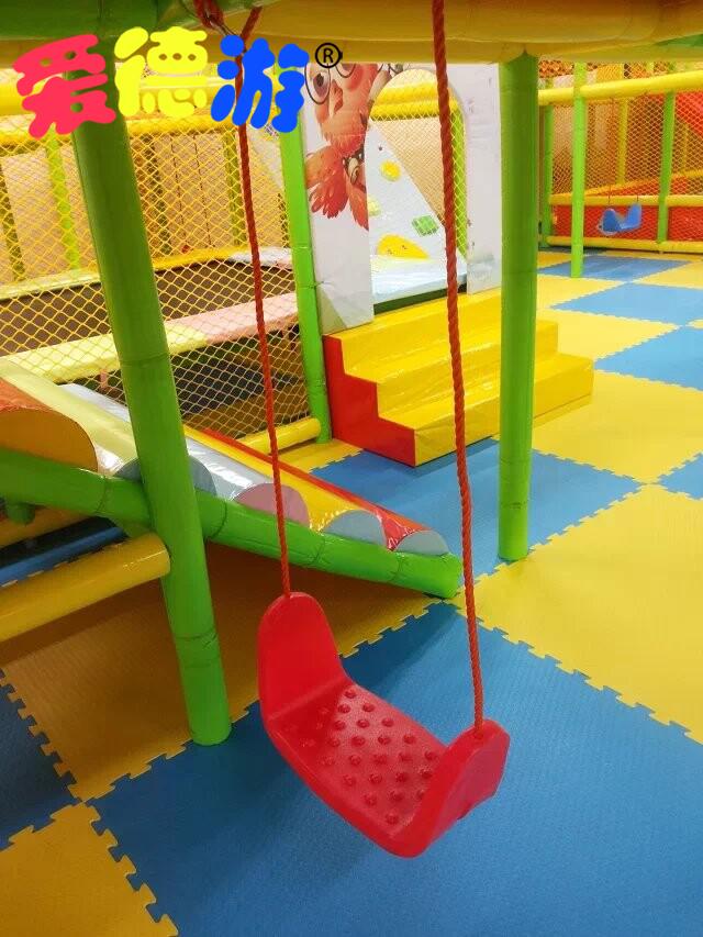 淘气堡配件塑料U型秋千带绳室内淘气堡儿童乐园游乐设备秋千板