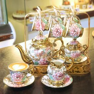 创意宫廷咖啡具套装欧式陶瓷家用咖啡杯茶具英式下午茶花茶杯子