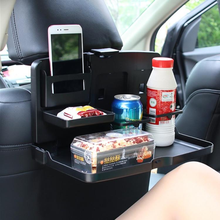 汽车吃饭餐桌座椅背可折叠小饭桌后排儿童写字桌子后座置物架桌板