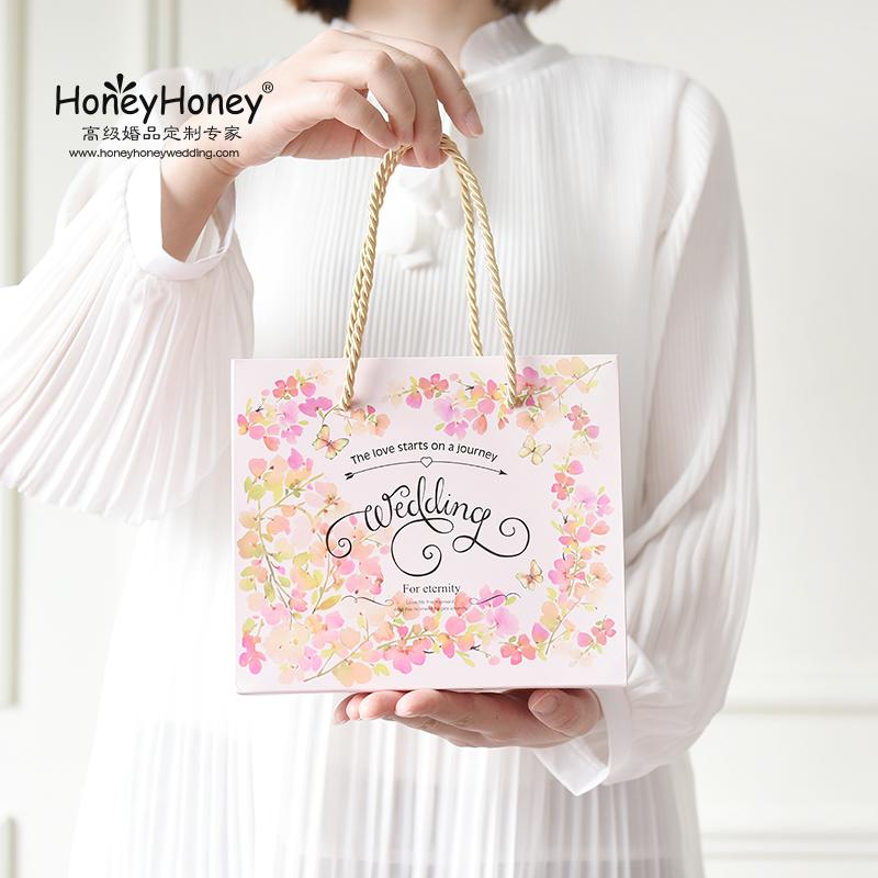 1.80元包邮【清仓】1.8盛夏花海创意结婚手提袋