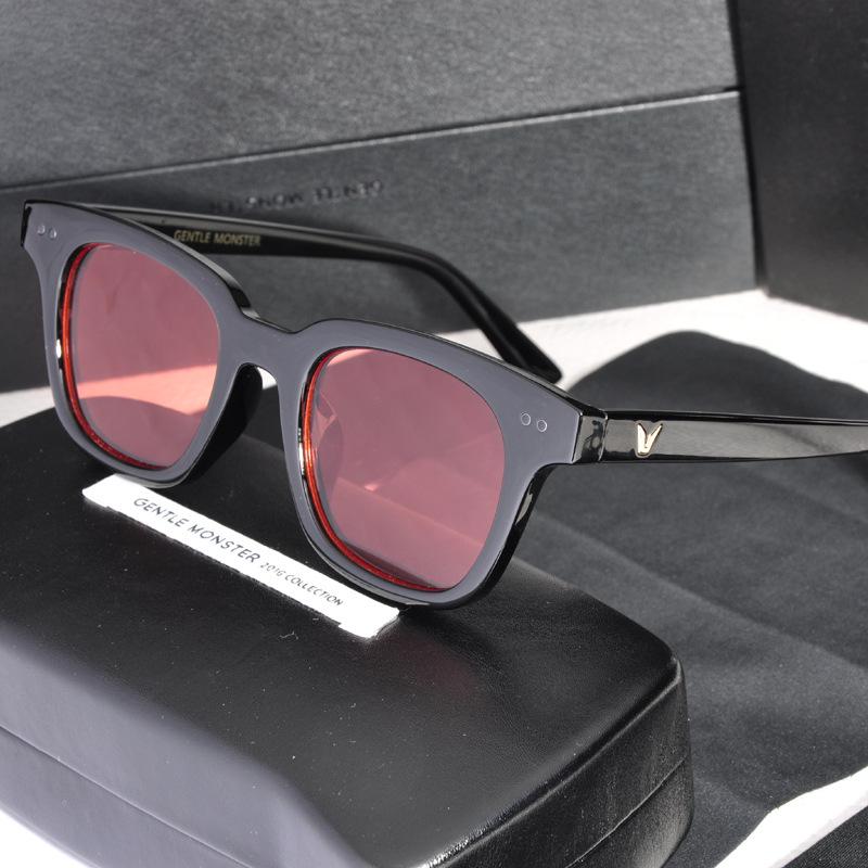彩色透明权眼镜志龙GD同款方框墨镜V果冻色TOP男女5052潮牌太阳镜