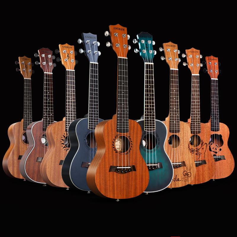 23寸旅行小吉他尤克里里全单印度玫瑰木材料套装DIY全单吉他组合满98元可用5元优惠券