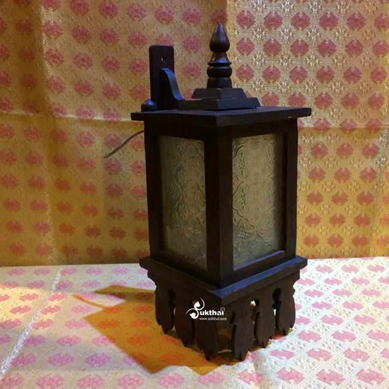素柯泰-泰国进口实木复古壁灯走廊灯酒吧咖啡吧创意壁灯