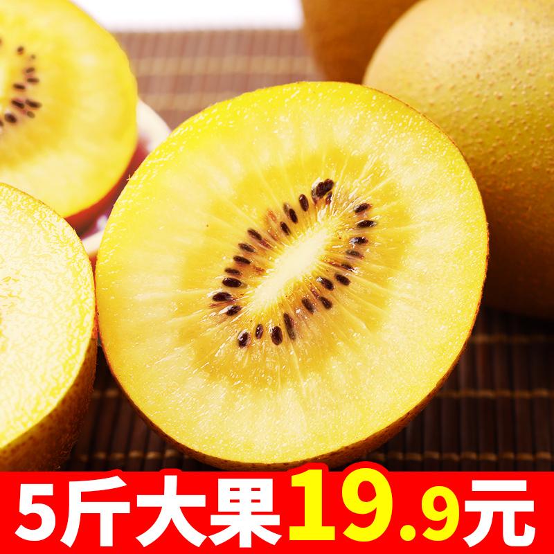 黄心猕猴桃新鲜5斤包邮大果应季水果四川奇异果弥猴桃现货 非红心