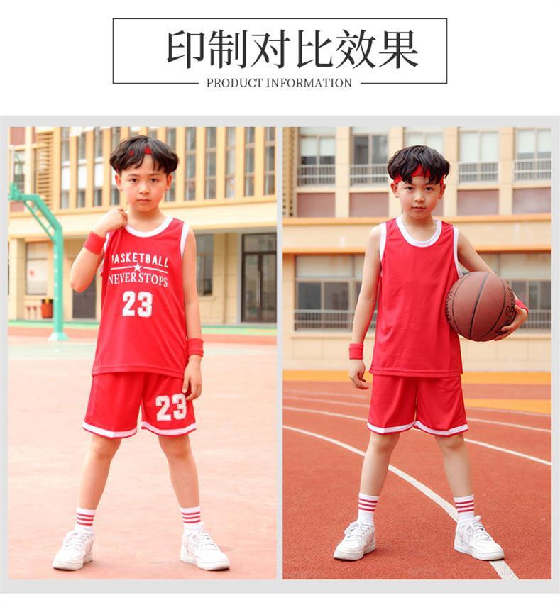 儿童足球服套装 童装定制训练服团购比赛中小学生儿童光板足球衣