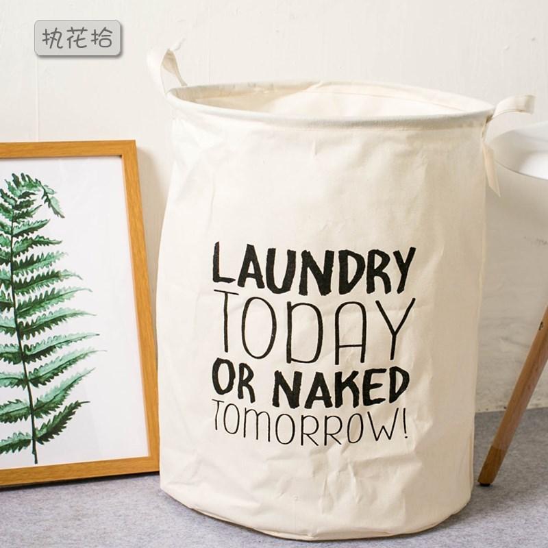 脏衣服篮子 日式大号折叠布料彩色脏衣桶篓 收纳洗衣袋脏衣网袋