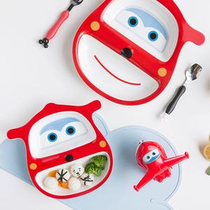防摔卡通儿童餐盘  分格密胺瓷家用宝宝无毒餐具可爱饭盘分隔盘子