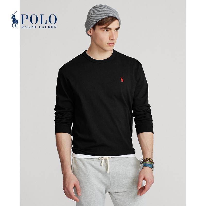 Ralph Lauren/拉夫劳伦男装 21年秋经典版平纹针织长袖T恤RL13770
