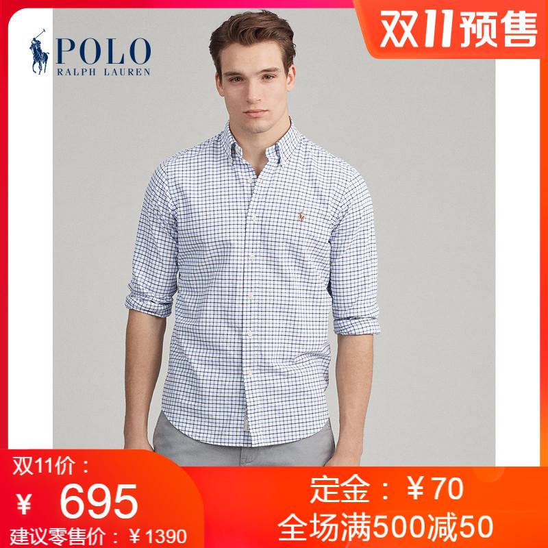 【预售】Ralph Lauren/拉夫劳伦男装 经典版型格纹图案衬衫11300