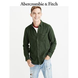 Abercrombie&Fitch男装 纯色法兰绒标识款衬衫 225012-1 AF