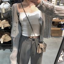 大码女装冰麻防晒衫2020夏季新款胖mm长袖空调针织开衫女宽松上衣