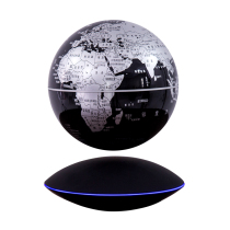 Lantau Maglev Globe luminescent rotation 6 inch 8 inch large office desktop decoration home furnishings creative suspended black technology craft gifts to send boys and girls gift power outage protection