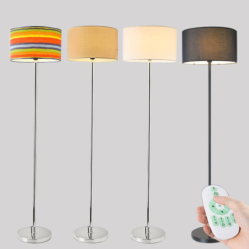 Торшер простой современный гостиная спальня прикроватный нордический этаж настольные лампы интеллектуальный контроль удаленный вертикальный свет
