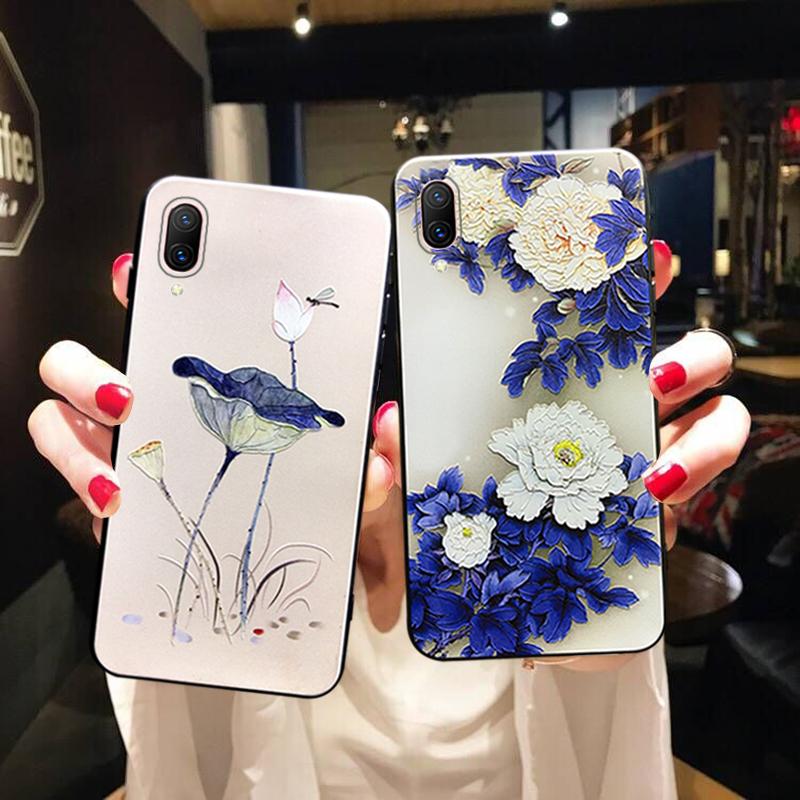 vivox21s手机壳z3i硅胶软vivoz5x荷花vivoy93复古中国风vi正品保证